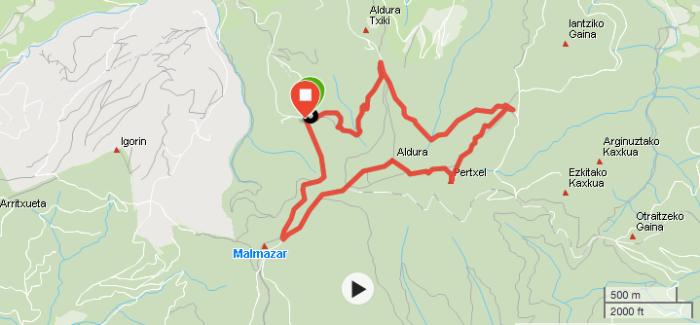 Basurde Urdaburu Mapa