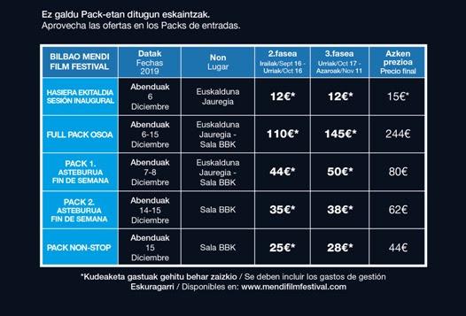 TABLA ENTRADAS 2019